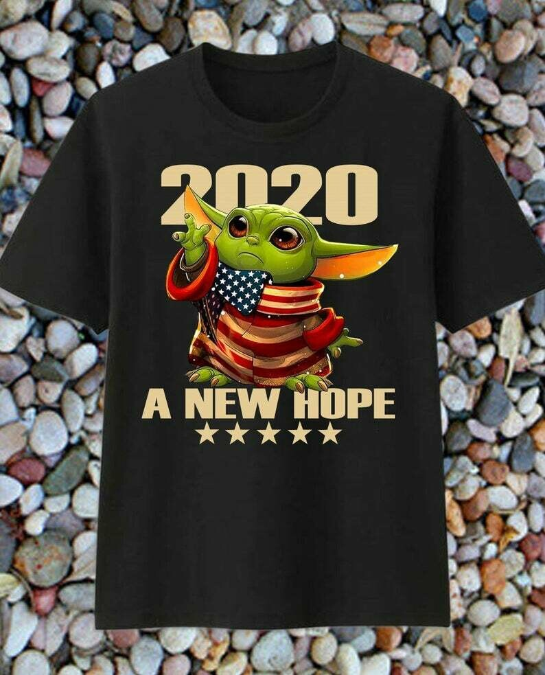Baby Yoda Mando '20 2020 Shirt Vote for USA President This is the vote master The Mandalorian with death Star Wars Movie USA Flag T-Shirts