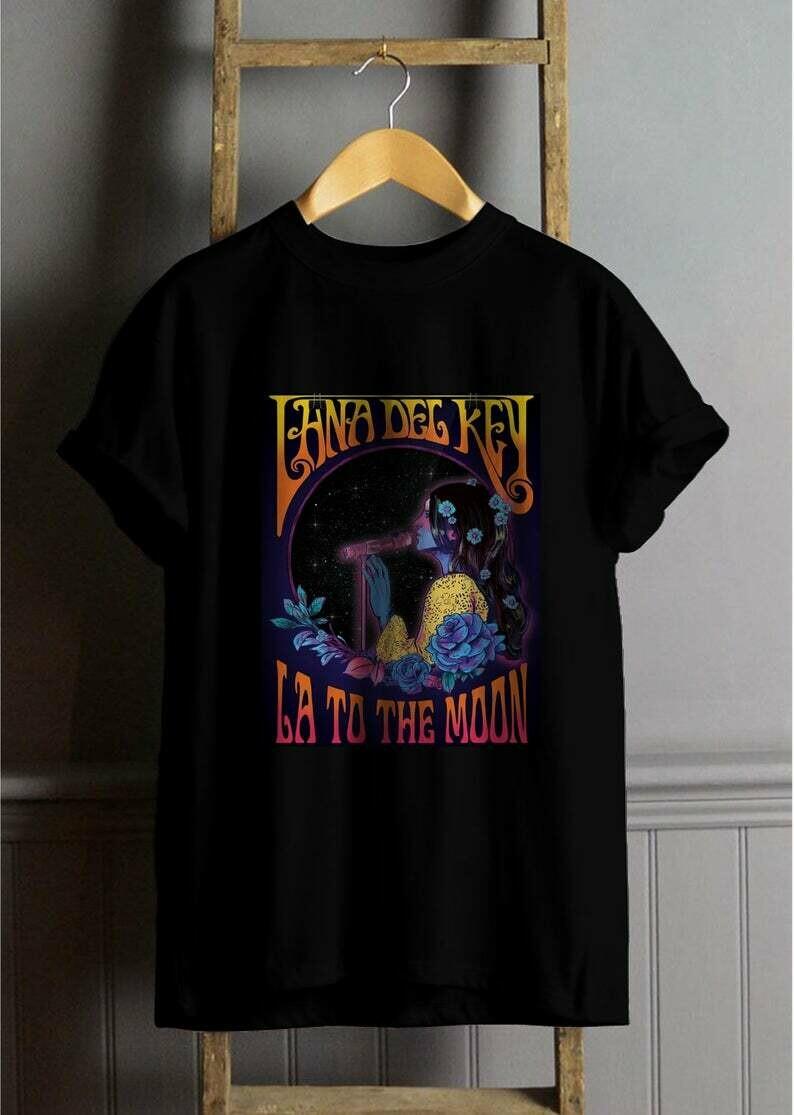 Lana Del Rey La to the moon T Shirt, Lana Del Rey Shirt, Lana Del Rey Tees, Lana Del Rey Clothing Best Seller