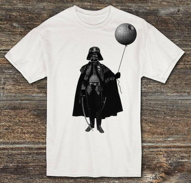 Darth Vader with Death Star Balloon Vintage Goth Darth Vader with Death Star Balloon - Light Saber