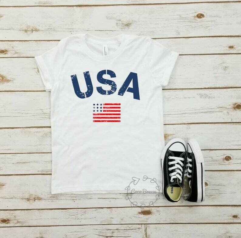 USA flag - unisex youth tshirt. usa flag shirt, american flag, military shirt, memorial day, labor day, july 4, 4th of july tee, patriotic