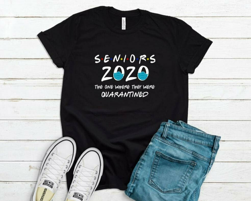 Seniors 2020 The One Where they were Quarantined Unisex T-shirt, Quarantine Shirt