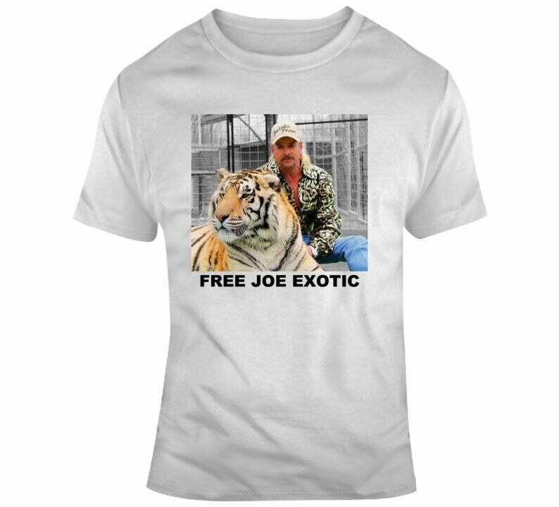 Free Joe Exotic Tiger King Tv Show Animal Rights Animal Trade Fan T Shirt