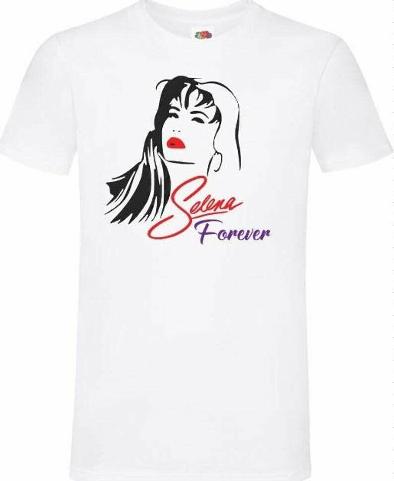 selena shirt Vintage Selena shirt Selena Quintanilla-Pérez Queen of Tejano 1996 Black Neon Rainbow unisex t shirt