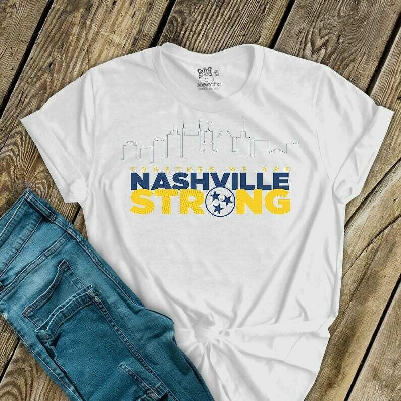 Nashville Strong Tshirt, nashville tornado, tennessee strong shirt, i believe in nashville t shirt, project 615