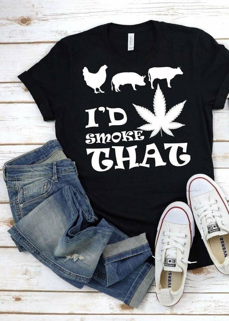 Cannabis Chicken Pig Cow Id Smoke That shirt, Grill Master Tshirt, Shirt For Cook