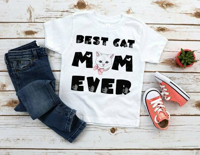 Mothers Day Gift, Best Cat Mom Ever Tshirt, cat mom shirt, Rescue Mama, Cat Lover, New Cat Mom