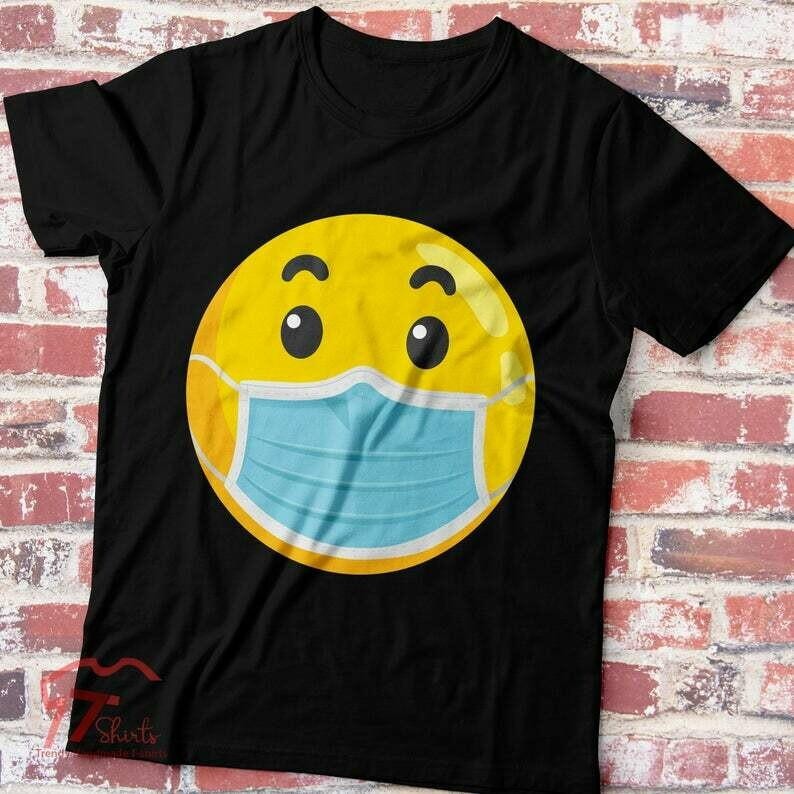 Funny Quarantine Shirt Emoji Mask Quarantine Shirt Funny Quarantine Gift Social Distancing Introvert Quarantine Shirt Class Of 2020 Shirt