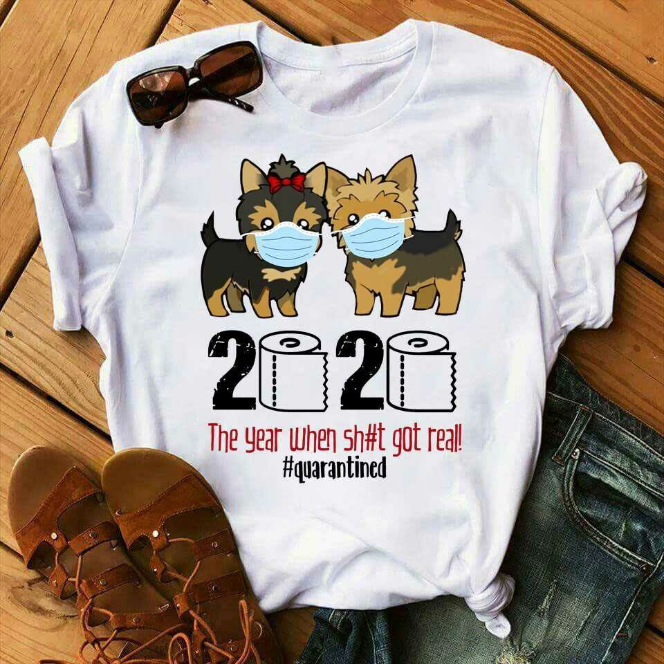 Cute dog 2020 t-shirt dog owners 2020 gift quarantined shirt funny dog team shirt quarantine shirt Social Distancing