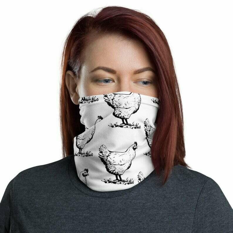 Face Mask - Reusable Face Mask - Cotton Face Mask - Face Cover - Washable face mask - Chicken face mask