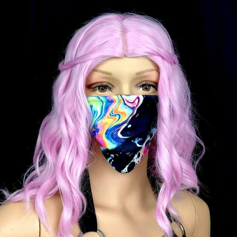 Bath Bomb Festival Facemask//Rave//Dance