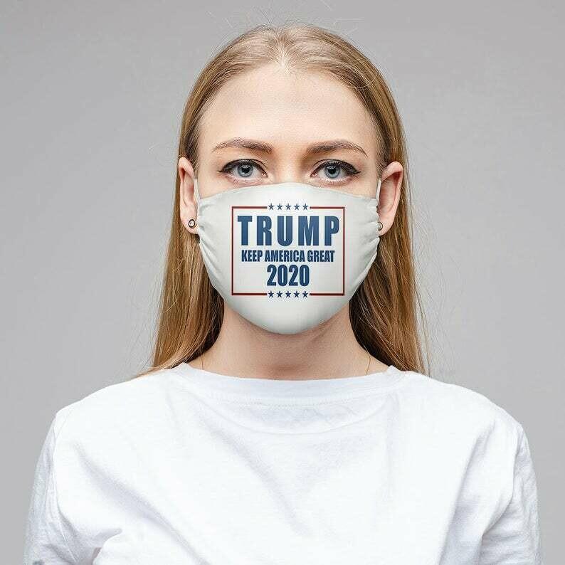 Trump 2020 Sublimation Face Mask, Keep America Great Washable Face Mask, Fabric Mask