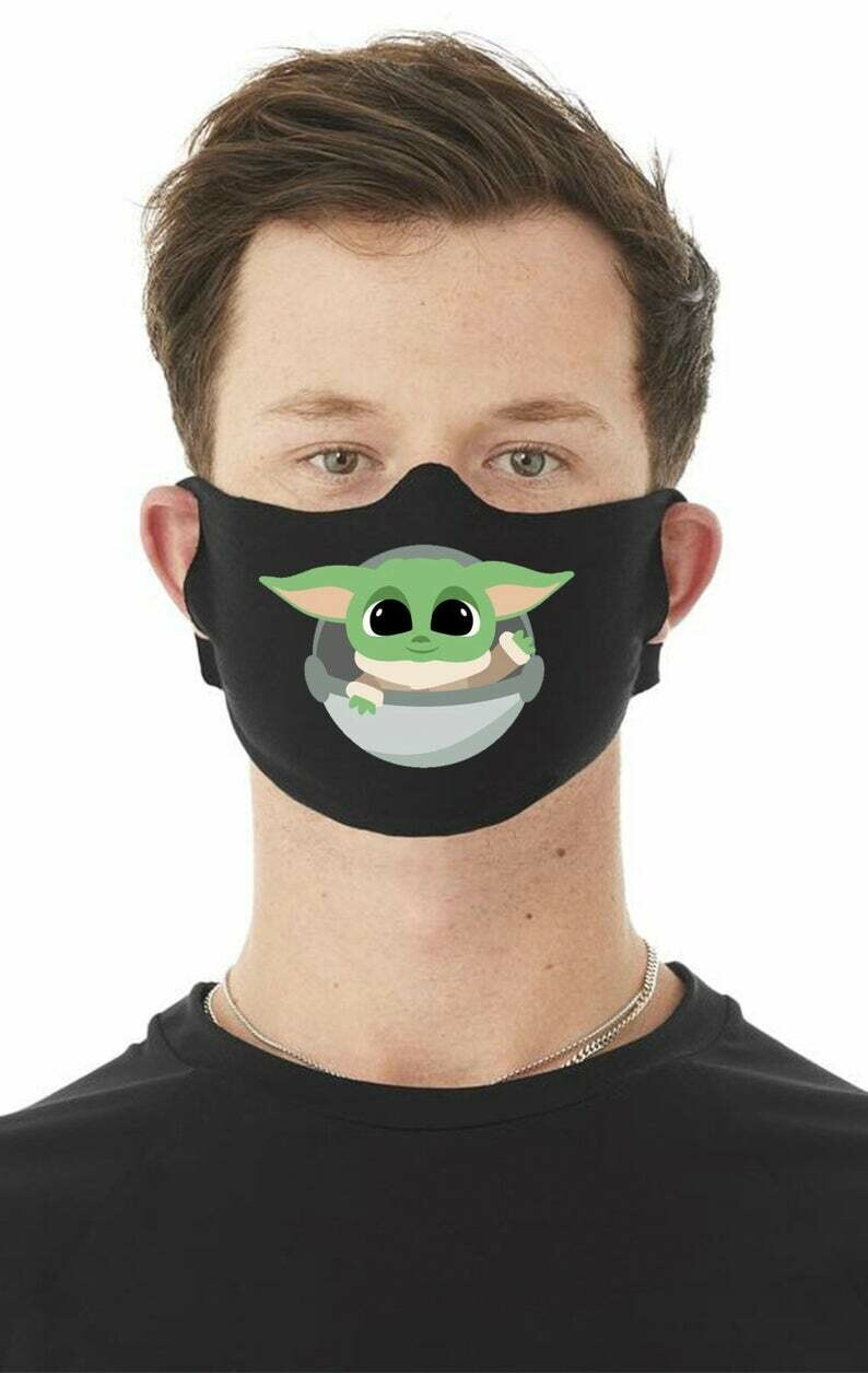 "Face Mask - ""Baby Yoda"" Levitating Crib (Color)"