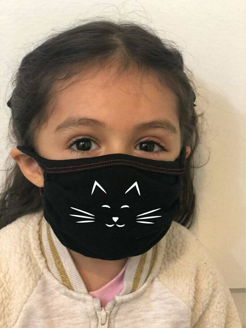 Reusable Kid Face Mask For Age 3 to 12 - Protective Soft - MADE In USA - Hand Made, Washable. With Filter pocket! Ship in 1-3 business day!