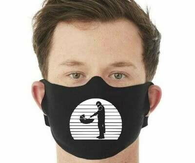 Face Mask, Fabric Face Masks, Handmade Face Mask, The Mandolorian, Star Wars Face Mask, Black Face Mask, Adult Face Masks