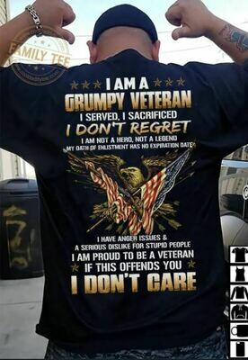 I Am A Grumpy Veteran Shirt