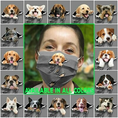 Dog-TornVR-Face Mask