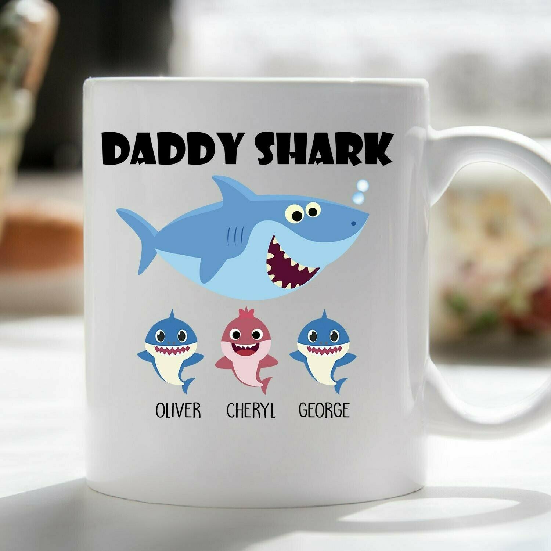 DADDY SHARK FATHER'S DAY MUG