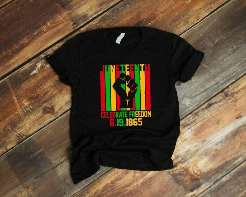 Juneteenth Celebrate Freedom 6.19.1865 Tshirt, Black Power, Since 1865 Tshirt