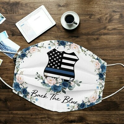 Back The Blue American Flag Face Mask