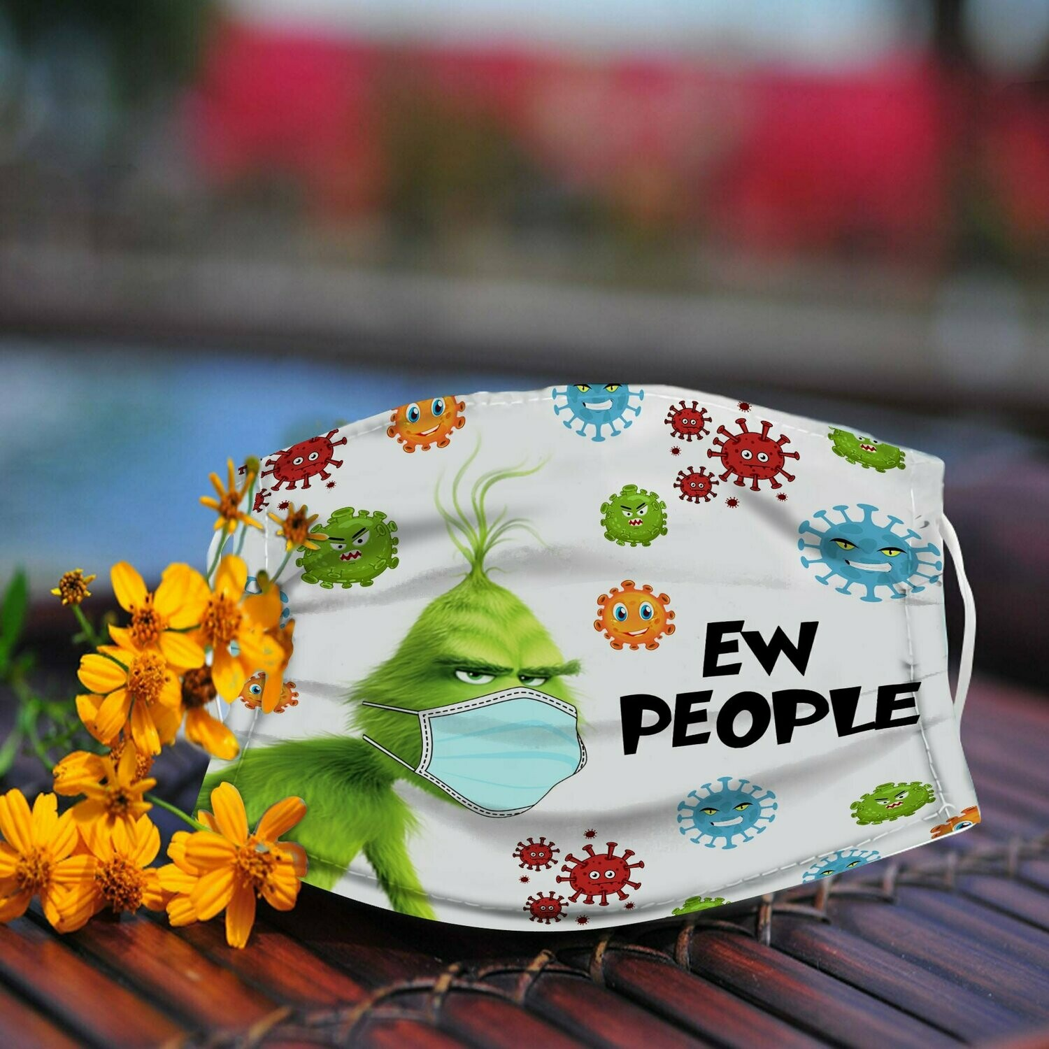 Grinch Ew People Face Mask Face Cover