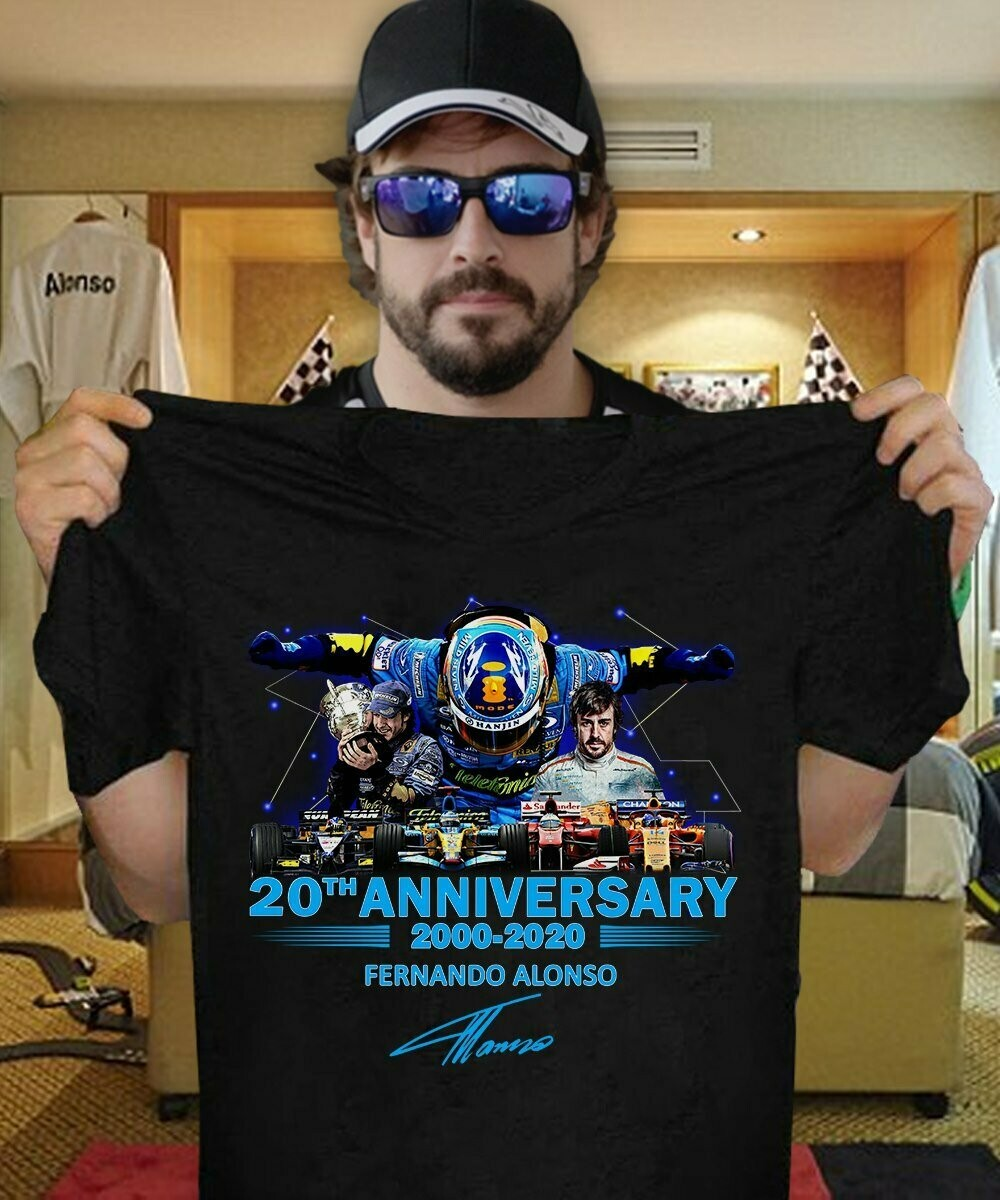 20th anniversary 2000 2020 fernando alonso signature shirt