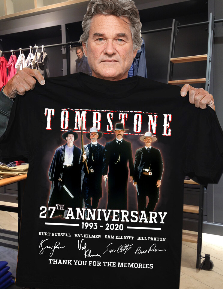 Tombstone 27th Anniversary 1993 2020 Signature Thank You For The Memories shirt
