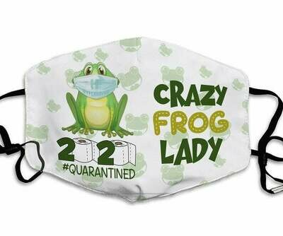 Crazy Frog Lady 2020 Quarantined handmade facemask