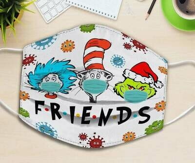 Friends The Cat In The Hat The Grinch Face Mask
