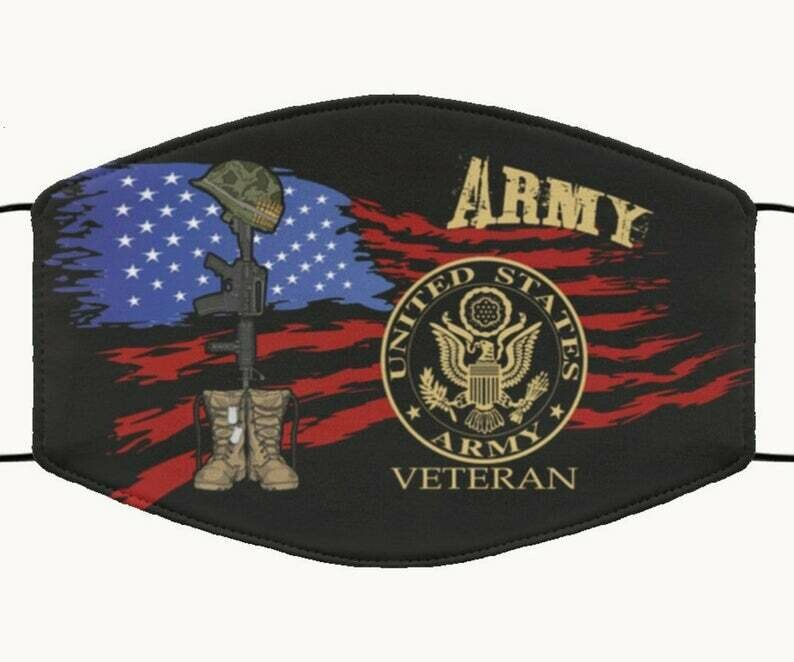 United States Army Veteran handmade face cover