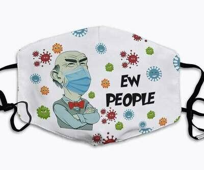 Grumpy Old Men Ew People Club Jeff Dunham handmade face cover