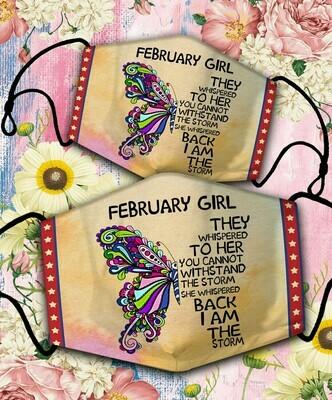 Butterfly February Girl Mask Cover