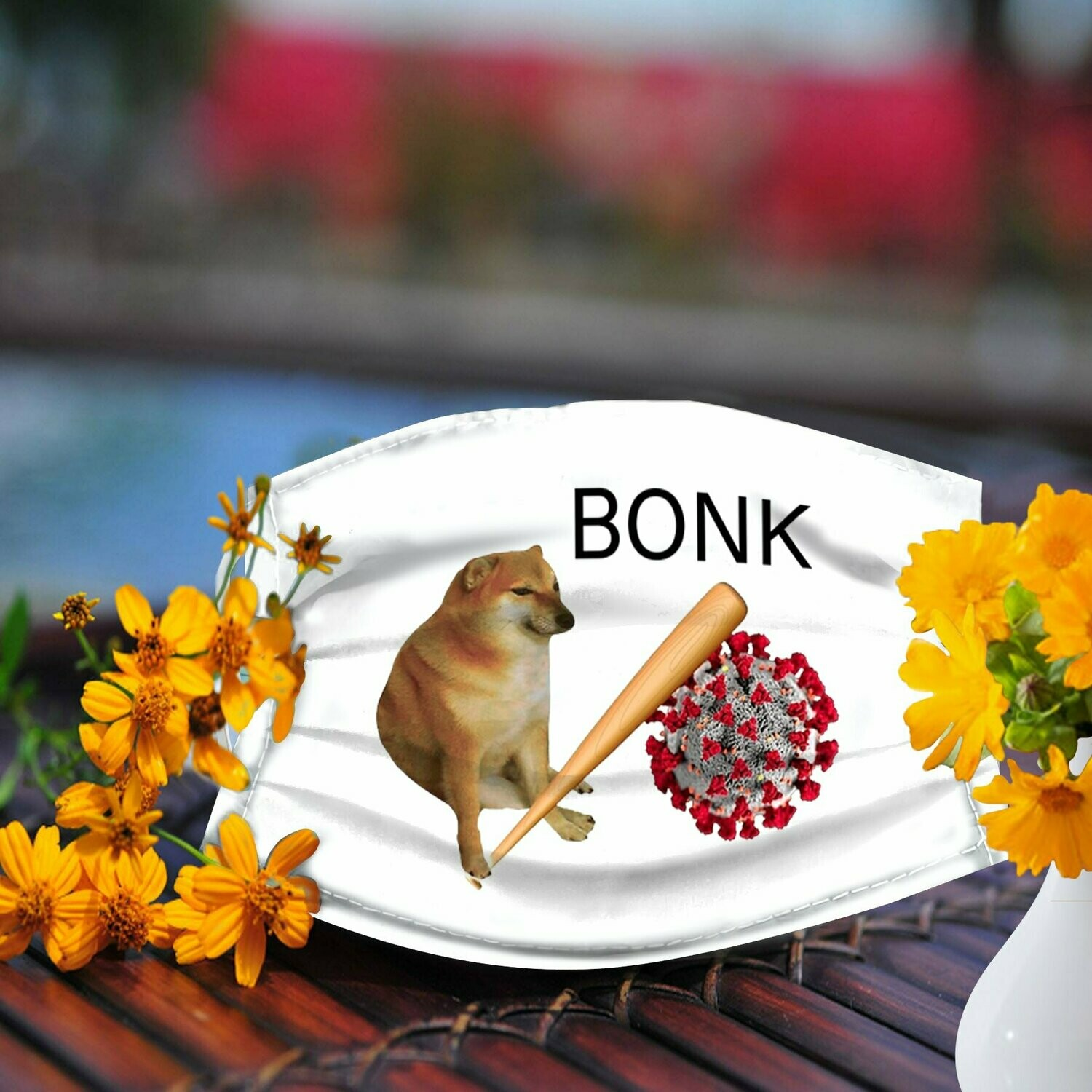 Dog bonk coronavirus face mask