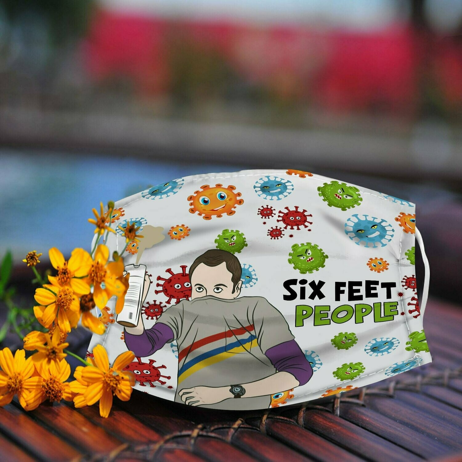 the big bang Sheldon Cooper Six Feet People Face Mask