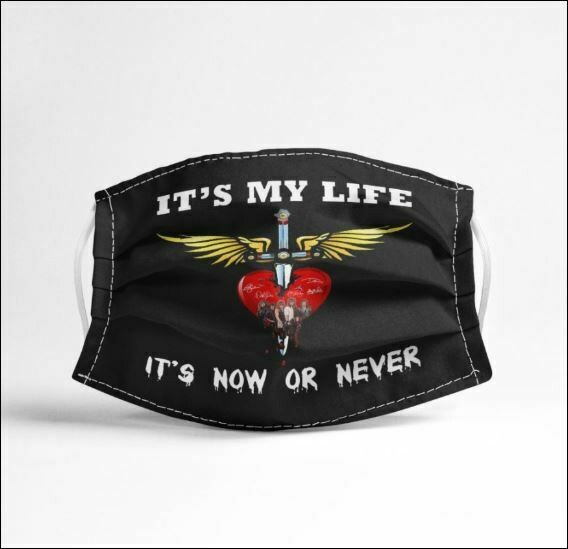 Bon Jovi it's my life it's now or never face mask