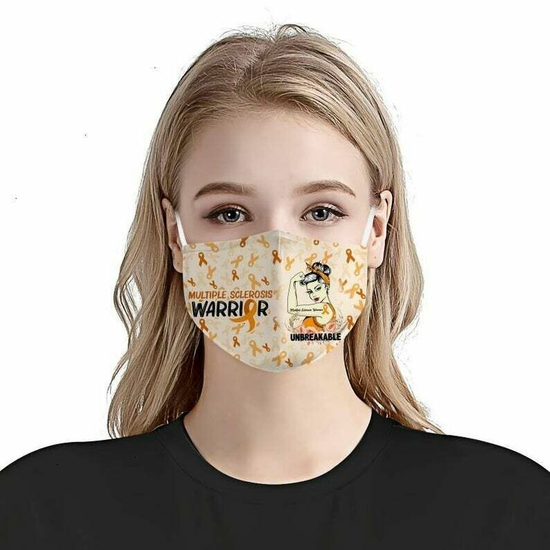 Awareness Multiple Sclerosis Facemask - can be washed comfortable to wear Anti Droplet Dust Filter Cotton Face Mask