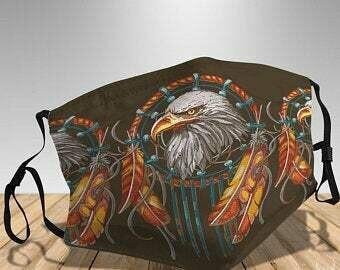 eagle native america vintage african face mask