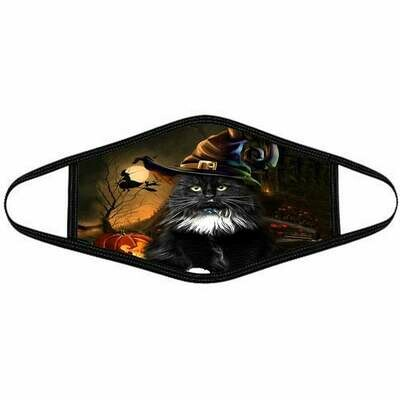 Halloween Face Mask Halloween Pattern Face Mask Black Cat Witch And Pumpkin Pattern Face Mask Washable Cotton Face Mask