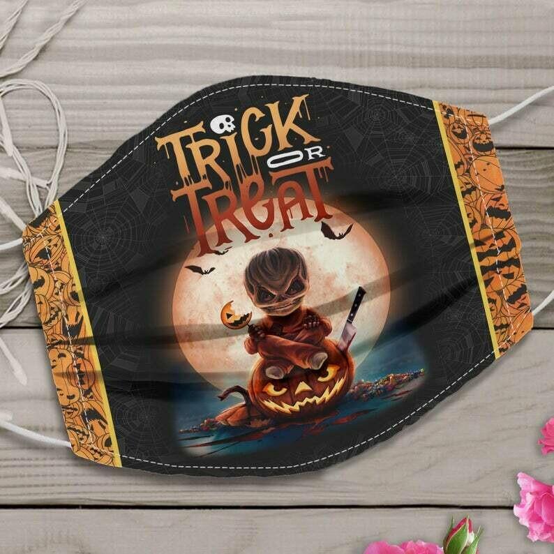 Sam Trick Or Treat Halloween Face Mask / Horror Sam Mask / Halloween Face Mask Gift