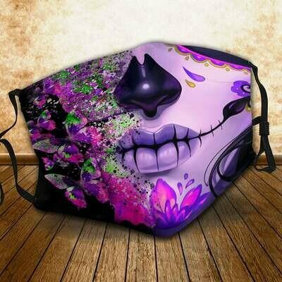 Sugar Skull face mask, Happy Halloween face mask, Halloween face mask gifts, gifts for Halloween, Halloween facemask, Halloween gifts