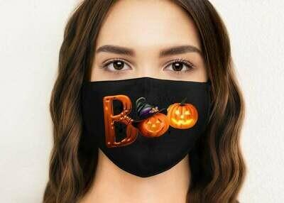 Boo Face mask, Halloween Face Masks, Washable Face Mask, Reusable Face Mask