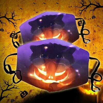 I Love Halloween Face Mask, Pumpkin Facemask, Fall Facemask