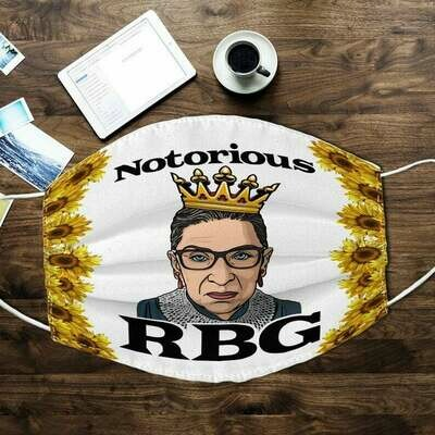 Fight For The Things You Care About Notorious RBG Ruth Bader Ginsburg facemask