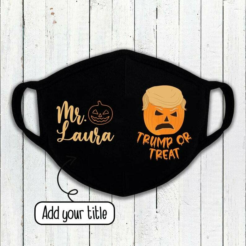 Trump Or Treat Mask, Funny Trump Mask, Halloween Mask, Trick Or Treat Mask