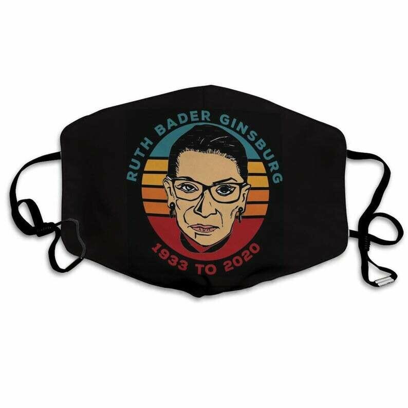 Ruth Bader Ginsberg 1933 to 2020 Mask