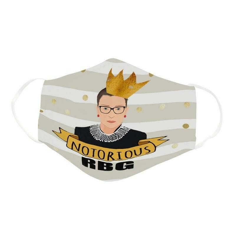 Notorious Ruth Bader Ginsburg RBG Supreme Court Justice, Washable Dust Protection Facial Cover Adult mask
