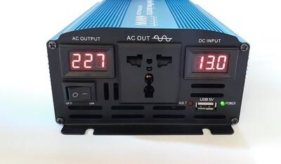Pure Sinewave Inverter, 12VDC- 220VAC, 600W continuous