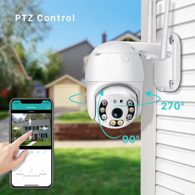 Outdoor Wifi PTZ Camera with 16GB sdcard included