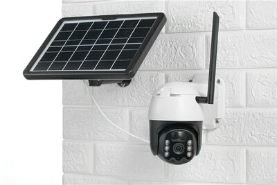 Solar PTZ Wifi Camera with batteries and 16gb sdcard included