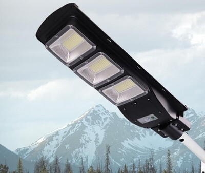 150W Solar Street Light, remote control and pole included