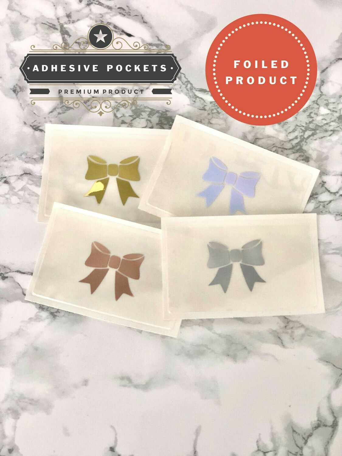 Foiled Bow Adhesive Planner Sticker Pockets  Functional Bujo B6 TN Erin Condren Happy Planner A5 Recollections
